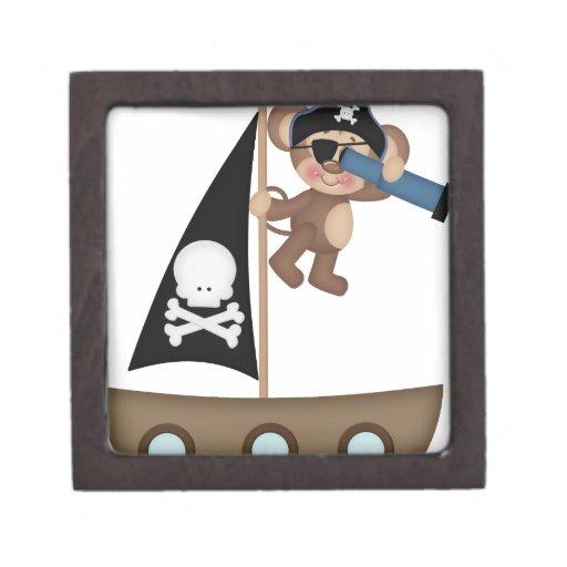 Monos de los piratas de Caribean Cajas De Joyas De Calidad