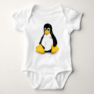 Monos del bebé de Linux Tux Body Para Bebé