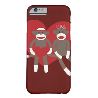 Monos del calcetín en regalos del el día de San Funda Para iPhone 6 Barely There