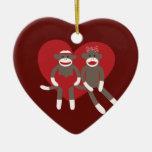Monos del calcetín en regalos del el día de San Va Adornos De Navidad