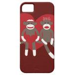 Monos del calcetín en regalos del el día de San Va iPhone 5 Coberturas