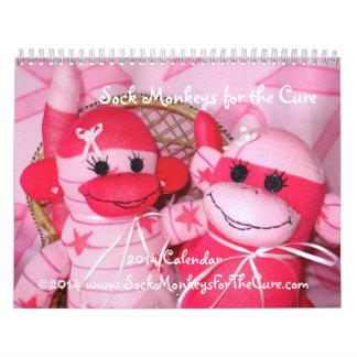 Monos del calcetín para el calendario de la