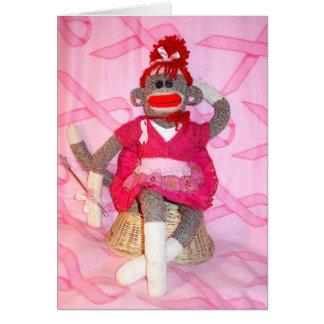 Monos del calcetín para la tarjeta de Lillian del