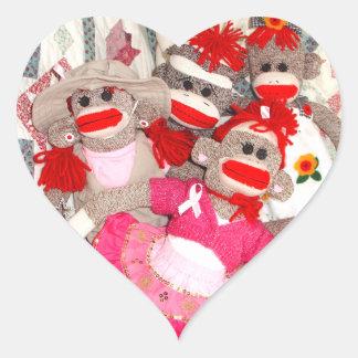 Monos del calcetín para los pegatinas del corazón calcomanía corazón personalizadas