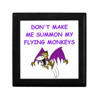 monos del vuelo cajas de joyas