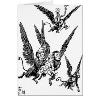 Monos del vuelo de mago de Oz Tarjeta De Felicitación