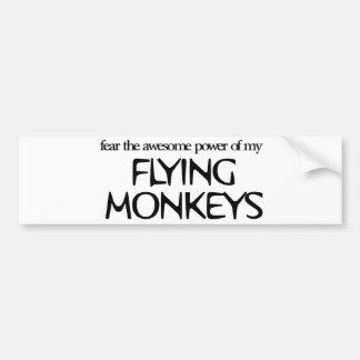 Monos del vuelo pegatina de parachoque