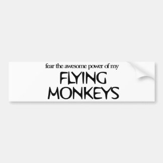 Monos del vuelo pegatina para auto