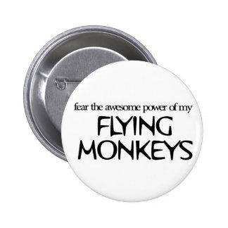 Monos del vuelo pin redondo 5 cm