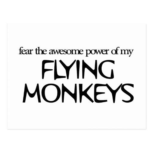 Monos del vuelo tarjeta postal