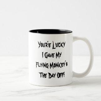 Monos del vuelo taza de café