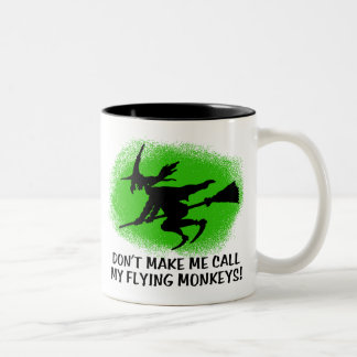 Monos del vuelo taza