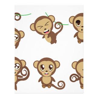 Monos divertidos plantilla de membrete