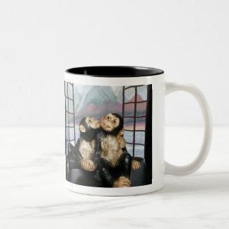 Monos el vacaciones taza de dos tonos