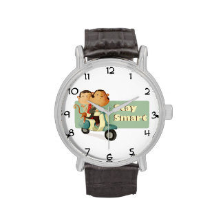 Monos elegantes de la vespa de la estancia relojes de pulsera