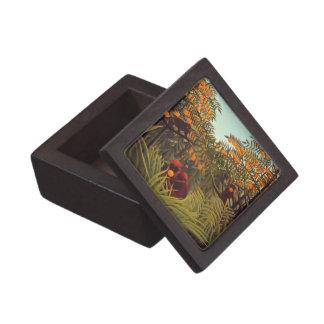 monos en la arboleda anaranjada caja de regalo de calidad
