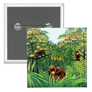 """""""Monos en la arboleda anaranjada"""" por Henri Rousse Pin"""