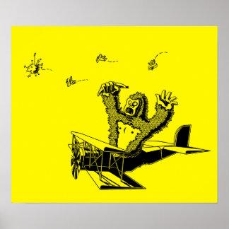 Monos en los aviones posters