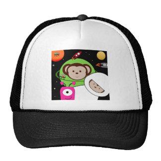 Monos en planeta de los extranjeros de espacio gorro de camionero
