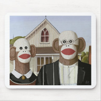 Monos góticos americanos del calcetín tapetes de ratón
