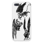 ¡Monos lindos del vuelo! Caso de mago de Oz iphone iPhone 5 Cárcasa