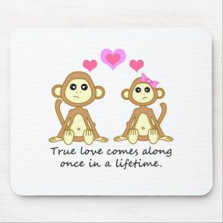 Monos lindos - el amor verdadero viene adelante un tapetes de ratones