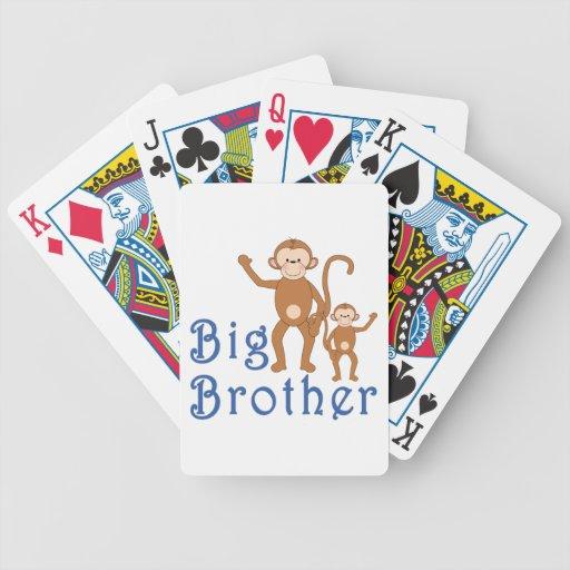Monos lindos mayores de hermano baraja de cartas