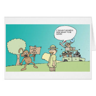 Monos listos tarjeta de felicitación