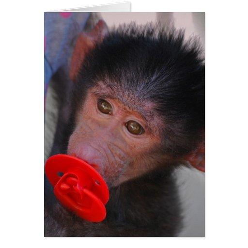 Monos para los maniquíes felicitaciones