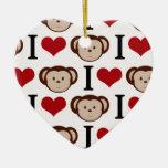 Monos retros del amor de I Adornos De Navidad