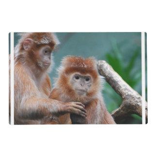 Monos rojos del Langur Tapete Individual