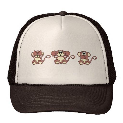 monos sabios gorras de camionero