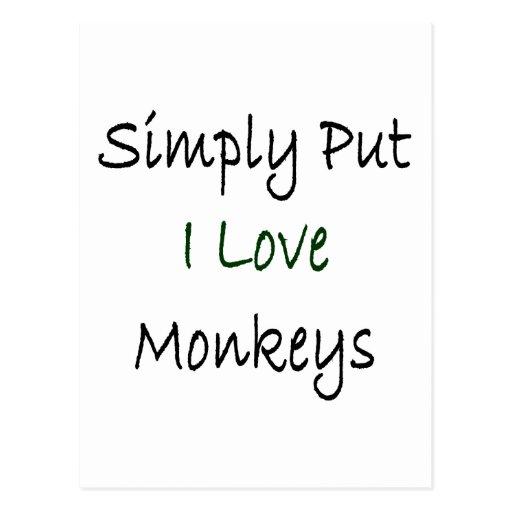 Monos simplemente puestos del amor de I Postal