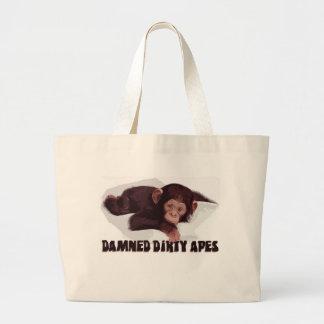 ¡Monos sucios maldecidos! Bolsa Tela Grande