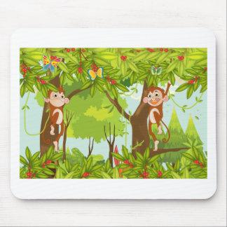 monos alfombrilla de ratones