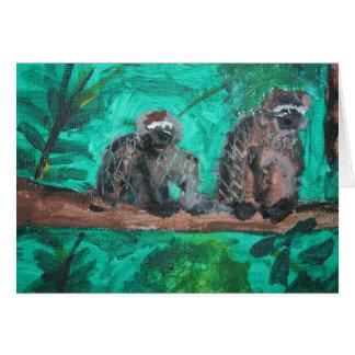 Monos Tarjeta De Felicitación