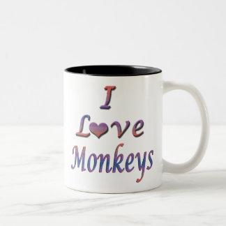 monos taza de dos tonos