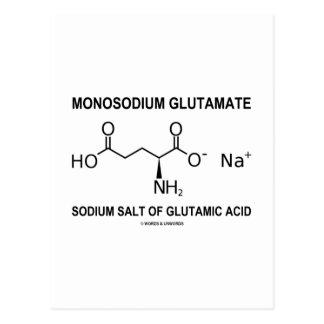 Monosodium Glutamate Sodium Salt Of Glutamic Acid Postcards