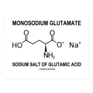 Monosodium Glutamate Sodium Salt Of Glutamic Acid Postcard