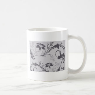 monotone flowers coffee mug