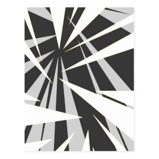 Monotone geometric graphic design postcard