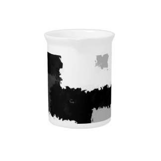 Monotone in Grey, Black & White Drink Pitcher