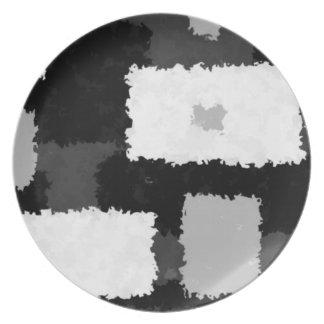 Monotone in Grey, Black & White Plate