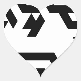 Monotoner2 Pegatina En Forma De Corazón