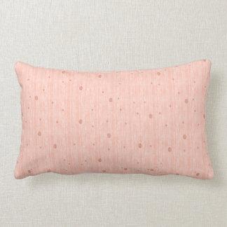 Monótono de seda - melocotón (almohada de tiro) almohada