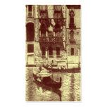 Monótono veneciano en sombras de Brown y de la cre Tarjetas Personales