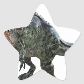 Monotophosaurus Looking Down to Left Star Sticker