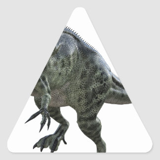 Monotophosaurus Looking Down to Left Triangle Sticker