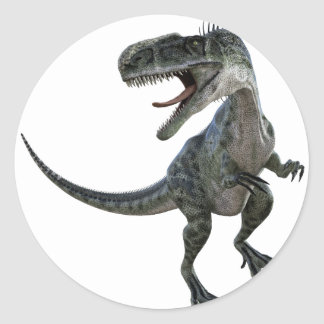 Monotophosaurus Looking Right Classic Round Sticker