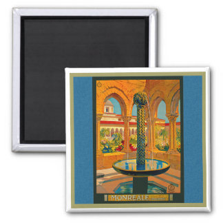Monreale Palermo Italy 2 Inch Square Magnet